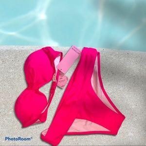 NEW Bikini Set — Pink 2-piece swimsuit